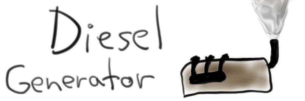 power outage diesel generator